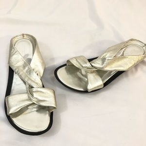 Rockport Silver Leather Sandals